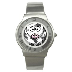 Cow Stainless Steel Watch (Unisex)