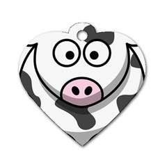 Cow Dog Tag Heart (one Sided)