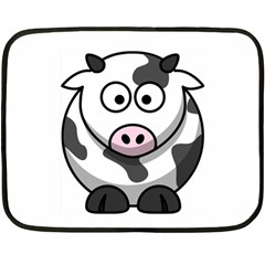 Cow Mini Fleece Blanket (Two-sided)