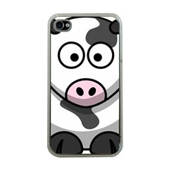 Cow Apple Iphone 4 Case (clear)