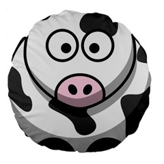 Cow 18  Premium Round Cushion