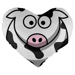 Cow 19  Premium Heart Shape Cushion