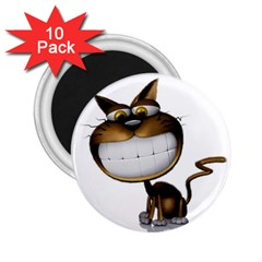 Funny Cat 2.25  Button Magnet (10 pack)