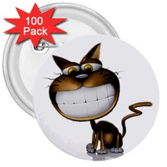 Funny Cat 3  Button (100 Pack)
