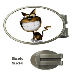 Funny Cat Money Clip (Oval)