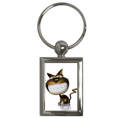 Funny Cat Key Chain (Rectangle)