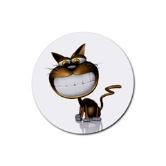 Funny Cat Drink Coaster (Round)