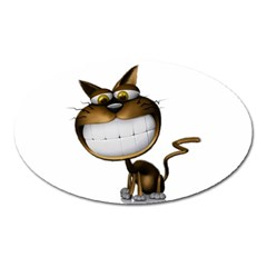 Funny Cat Magnet (Oval)