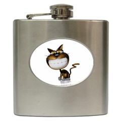 Funny Cat Hip Flask