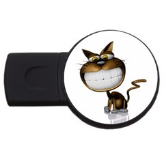 Funny Cat 2gb Usb Flash Drive (round)