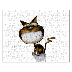 Funny Cat Jigsaw Puzzle (Rectangle)