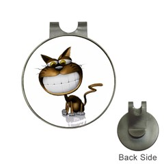 Funny Cat Hat Clip with Golf Ball Marker