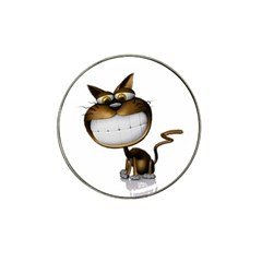 Funny Cat Golf Ball Marker 4 Pack (for Hat Clip)