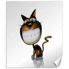 Funny Cat Canvas 8  x 10  (Unframed)