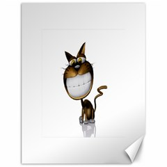 Funny Cat Canvas 12  x 16  (Unframed)