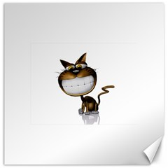 Funny Cat Canvas 16  x 16  (Unframed)