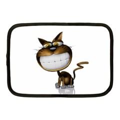 Funny Cat Netbook Case (medium)