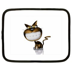 Funny Cat Netbook Case (large)