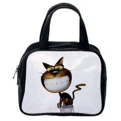 Funny Cat Classic Handbag (one Side)