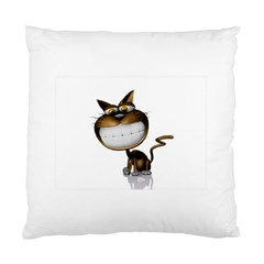 Funny Cat Cushion Case (Two Sides)