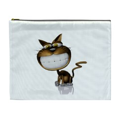 Funny Cat Cosmetic Bag (XL)