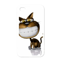 Funny Cat Apple iPhone 4 Case (White)