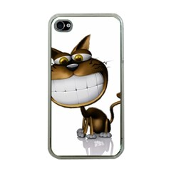 Funny Cat Apple iPhone 4 Case (Clear)