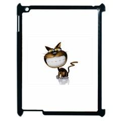 Funny Cat Apple iPad 2 Case (Black)