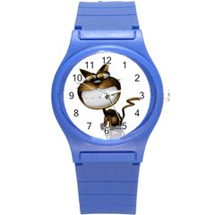 Funny Cat Plastic Sport Watch (small)