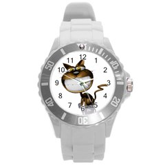 Funny Cat Plastic Sport Watch (large)