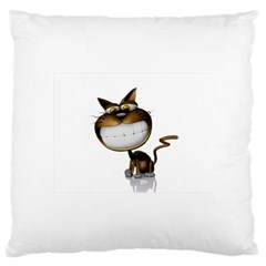 Funny Cat Large Cushion Case (one Side)