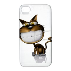 Funny Cat Apple iPhone 4/4S Hardshell Case with Stand
