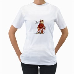 Samurai Cat Womens  T Shirt (white)