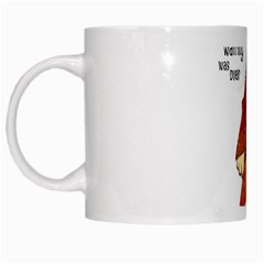 Samurai Cat White Coffee Mug