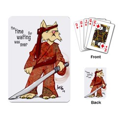 Samurai Cat Playing Cards Single Design