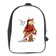 Samurai Cat School Bag (large)