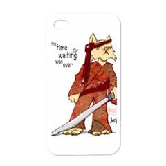Samurai Cat Apple Iphone 4 Case (white)