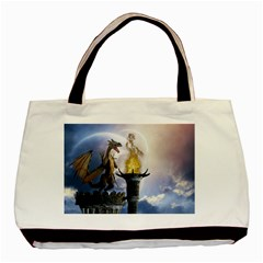 Dragon Land 2 Twin Sided Black Tote Bag
