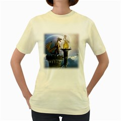 Dragon Land 2  Womens  T-shirt (Yellow)