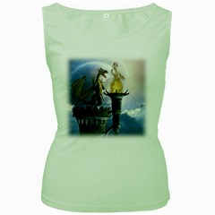 Dragon Land 2 Womens  Tank Top (green)