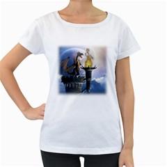 Dragon Land 2 Womens' Maternity T Shirt (white)
