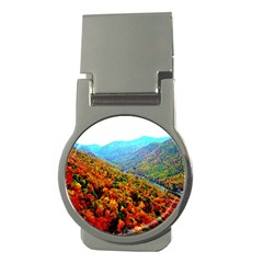 Through The Mountains Money Clip (Round)