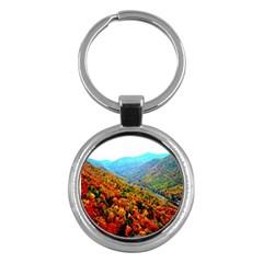 Through The Mountains Key Chain (Round)