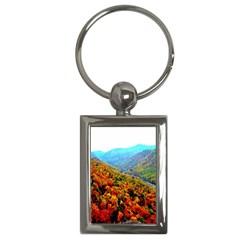 Through The Mountains Key Chain (Rectangle)
