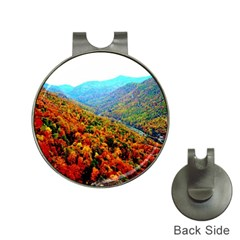 Through The Mountains Hat Clip With Golf Ball Marker