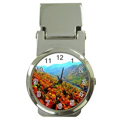 Through The Mountains Money Clip with Watch