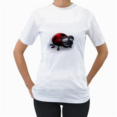 Lady Bird Womens  T-shirt (White)