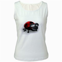 Lady Bird Womens  Tank Top (white)