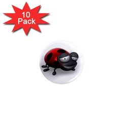Lady Bird 1  Mini Button Magnet (10 Pack)