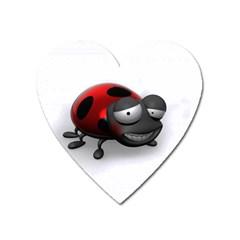 Lady Bird Magnet (heart)